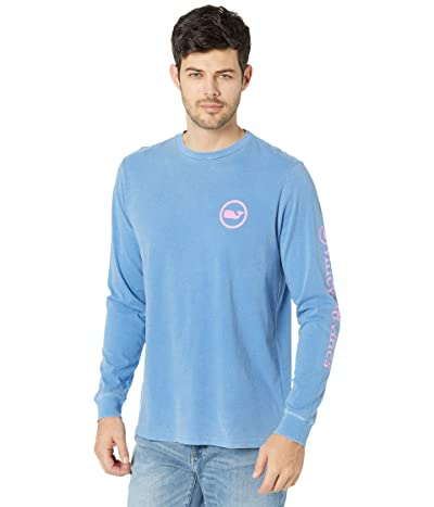 Vineyard Vines Long Sleeve Garment Dyed Bloom Whale Dot T-Shirt