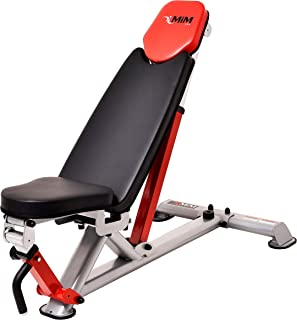 MiM USA Adjustable Weight Bench Professional Workout Bench Utility Weight Bench Commercial Grade Super CB 777S Pro