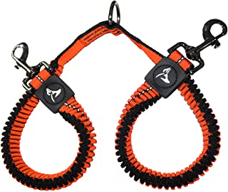 Kruz Double Dog Coupler - KZVX2-08S - Tangle Free Dog Walking and Training Dual Extension Coupler - Comfortable, Shock Abs...