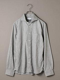 [シップスジェットブルー] ネルシャツ セミワイドカラー ソリッド メンズ 121150294