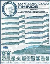 FUR48063 1:48 Furball Aero Design F-4J F-4S Phantom II Lo-Viz Devil Dog Rhinos [WATERSLIDE DECAL SHEET]