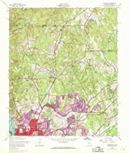 YellowMaps Fortson GA topo map, 1:24000 Scale, 7.5 X 7.5 Minute, Historical, 1955, Updated 1970, 27.8 x 23 in