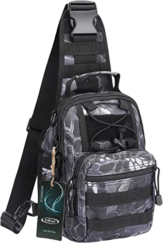 G4Free Outdoor Tactical Bag Backpack, Military Sport Bag Pack Sling Shoulder Backpack Tactical Satchel for Every Day ...