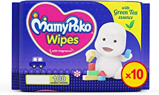 MamyPoko Wipes Mega Value Box, Pack of 10 x 100 Sheets, (1000 Wipes)