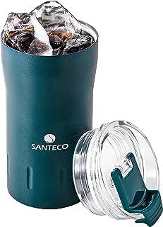 シービージャパン タンブラー ふた付き 真空断熱 ウルトラマリン ブルー 310ml ロック式飲み口 KARIBAタンブラー SANTECO