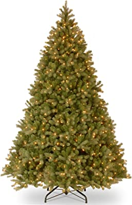 10' Pre-Lit Downswept Fir Artificial Christmas Tree - Clear Lights