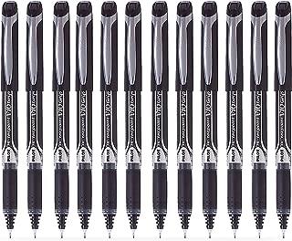 Pilot Hi Techpoint V10 Grip Pen, Black - Pack of 12