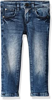 Guess Boys' Little Faded Skinny Fit Five Pocket Jeans, Ultra Medium Dark wash