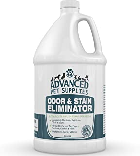 Advanced Pet Supplies Odor Eliminator and Stain Remover Carpet Cleaner with Odor Control Technology, Cat Urine and Dog Pee Neutralizer Spray, Professional Strength Enzymatic Solution