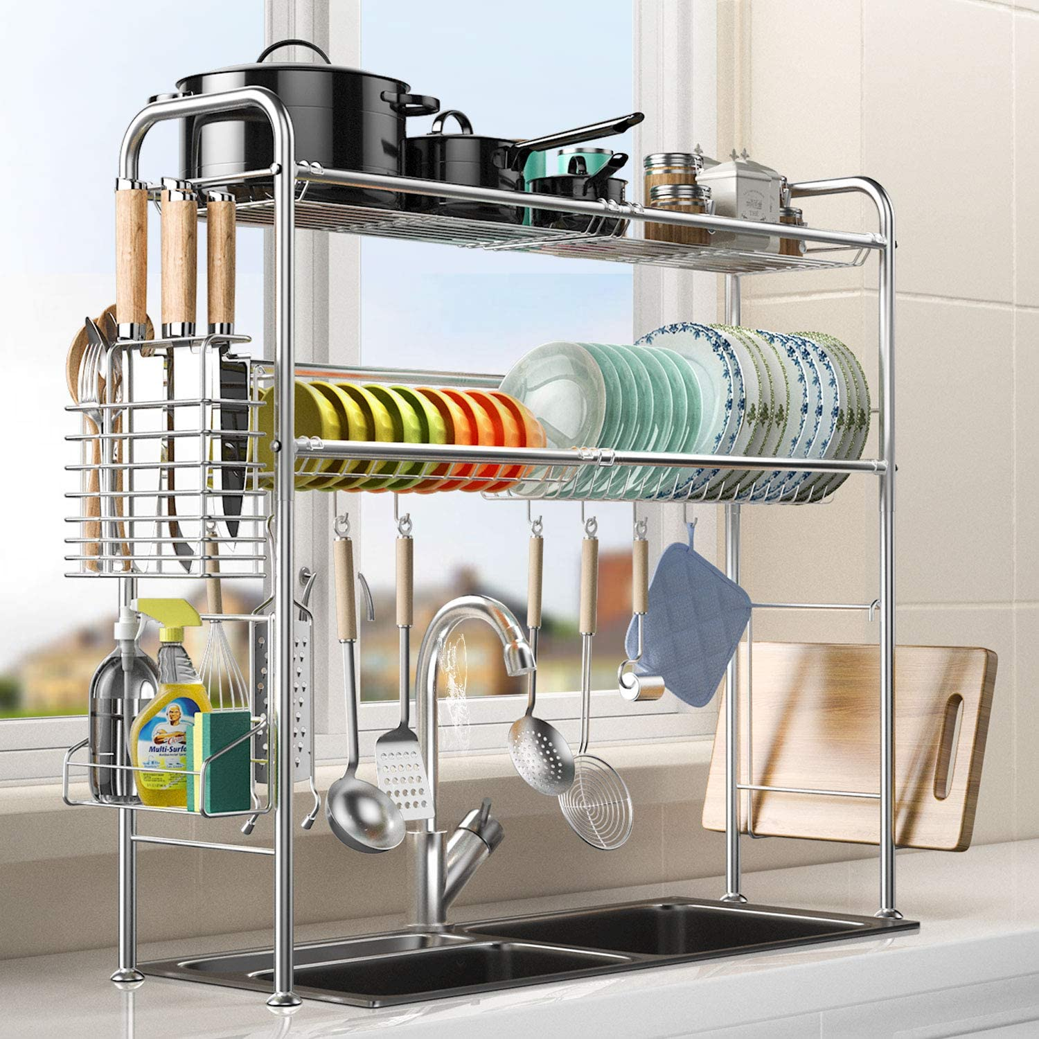 Denver Mall Over Sink Dish Drying Rack Kitchen Sta 2 304 High quality Tier