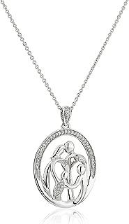 1 2 carat diamond necklace sterling silver