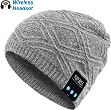 nine bull Bluetooth Beanie Hat, HD Stereo Bluetooth Headphones Wireless Smart Beanie Headset Winter Music Knit Speaker Hat Speakerphone Cap, Built-in Mic