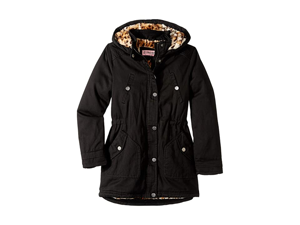 Urban Republic Kids Natasha Cotton Twill Anorak Jacket (Little Kids/Big Kids) (Black) Girl