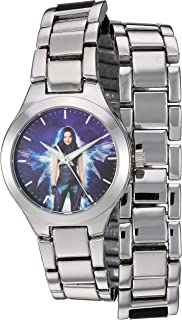 Disney Girls' Descendants 3 Analog Quartz Watch with Alloy Strap, Silver, 16 (Model: WDS000773)