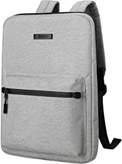 Ultra-Thin Laptop Backpack,Cartinoe Canvas Lightweight Backpack,Water Resistent College School Computer Bag for Women Men for Travel,Business,Student Daypack Fits 13 14 15 inch Laptop & Notebook