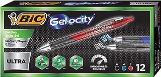BIC Gel-ocity Ultra Retractable Gel Pen, Assorted Colors, 12-Count