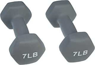 AmazonBasics Neoprene Dumbbells 10-Pound, Set of 2