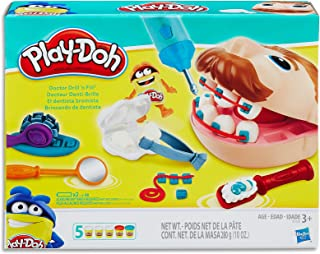 Play-Doh - Doctor Drill 'n Fill Set inc 5 Tubs of Dough & Accessories - Sensory and Educational Toys for Kids, boys and gi...