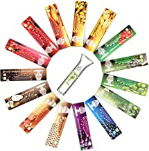 HORNET Flavored Rolling Papers with Glass Filter, 480 PCS Unbleached and Raw Cigarette Papers, 15 Juicy Fruit Flavors (King Size)