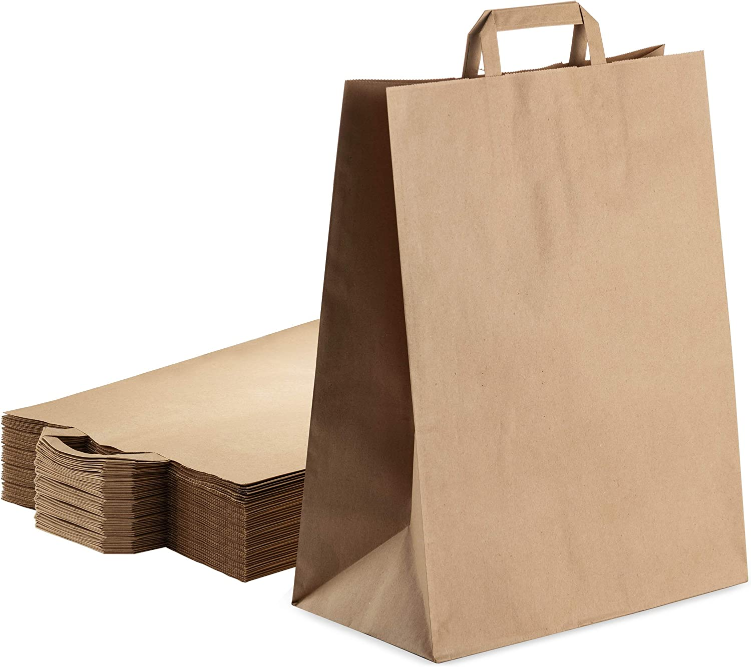 Kraft Brown Bulk Paper Bags Nashville-Davidson Mall with Perfect for New York Mall Handles Pcs 100