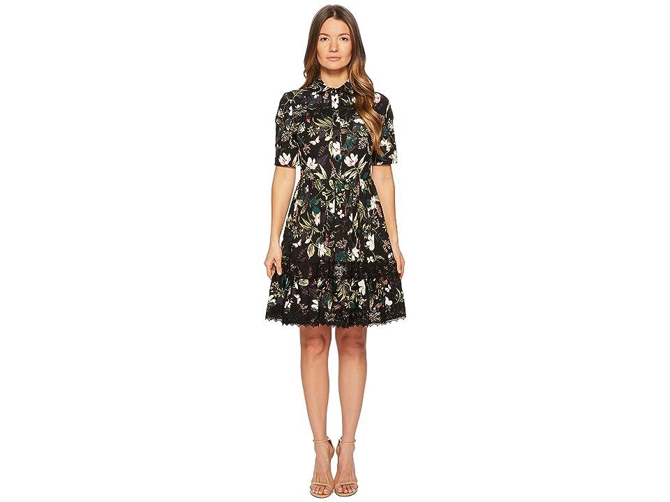 Kate Spade New York Botanical Poplin Dress (Black) Women