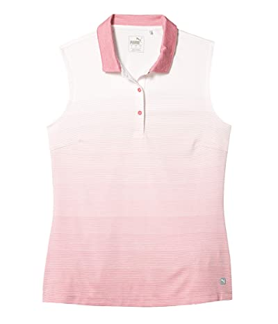 PUMA Golf Ombre Sleeveless Polo (Rapture Rose) Women