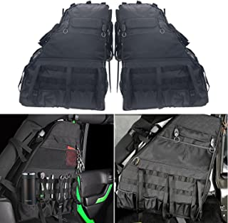 Roll Bar Storage Bag Cage with Multi-Pockets & Organizers & Cargo Bag Tool Kits Holder for 2007~2019 Jeep Wrangler JK Rubicon 4-Door - Pack of 2