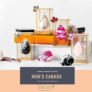 HIGH'S Latex-FreeMakeupSponge Blender Beauty Foundation Blending Sponge, Flawless for Liquid, Cream, Multi-colored cosmetic Sponges 4 PCS
