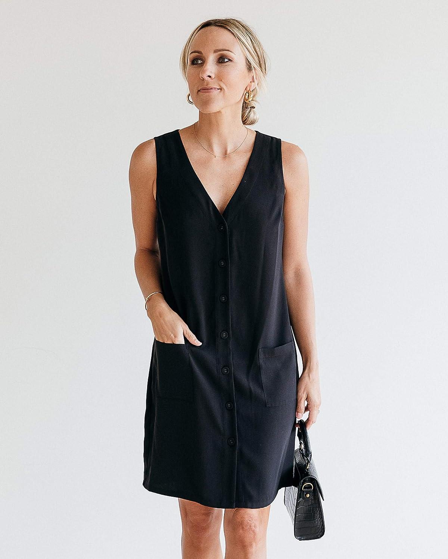 The Drop Women's Black Sleeveless V-neck Dress by @jaceyduprie