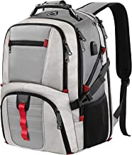 TSA Laptop Backpack,Durable Large Travel Computer Backpack for Men Women with USB Charger Port,Water Repellent Business Laptop Daypack College School Bookbag for 17Inch Laptop,Grey