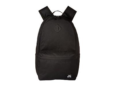 Nike SB Icon Backpack (Black/Black/White) Backpack Bags