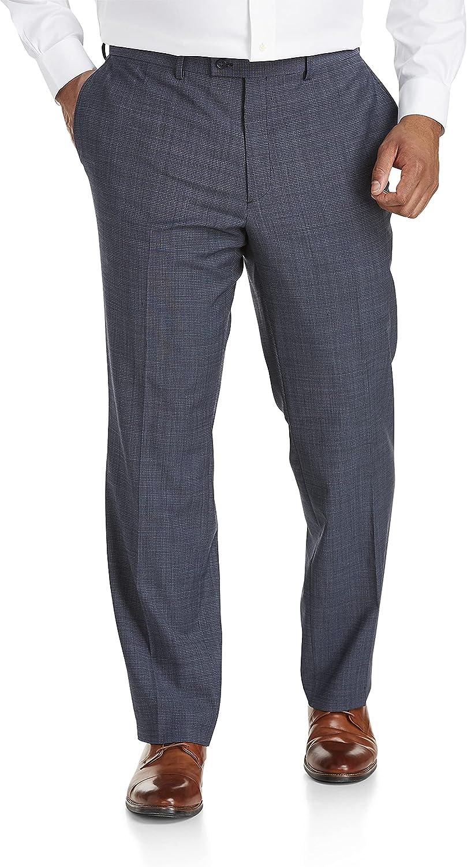 Jack Victor Reflex Mini Check Stretch Suit Pants, Blue