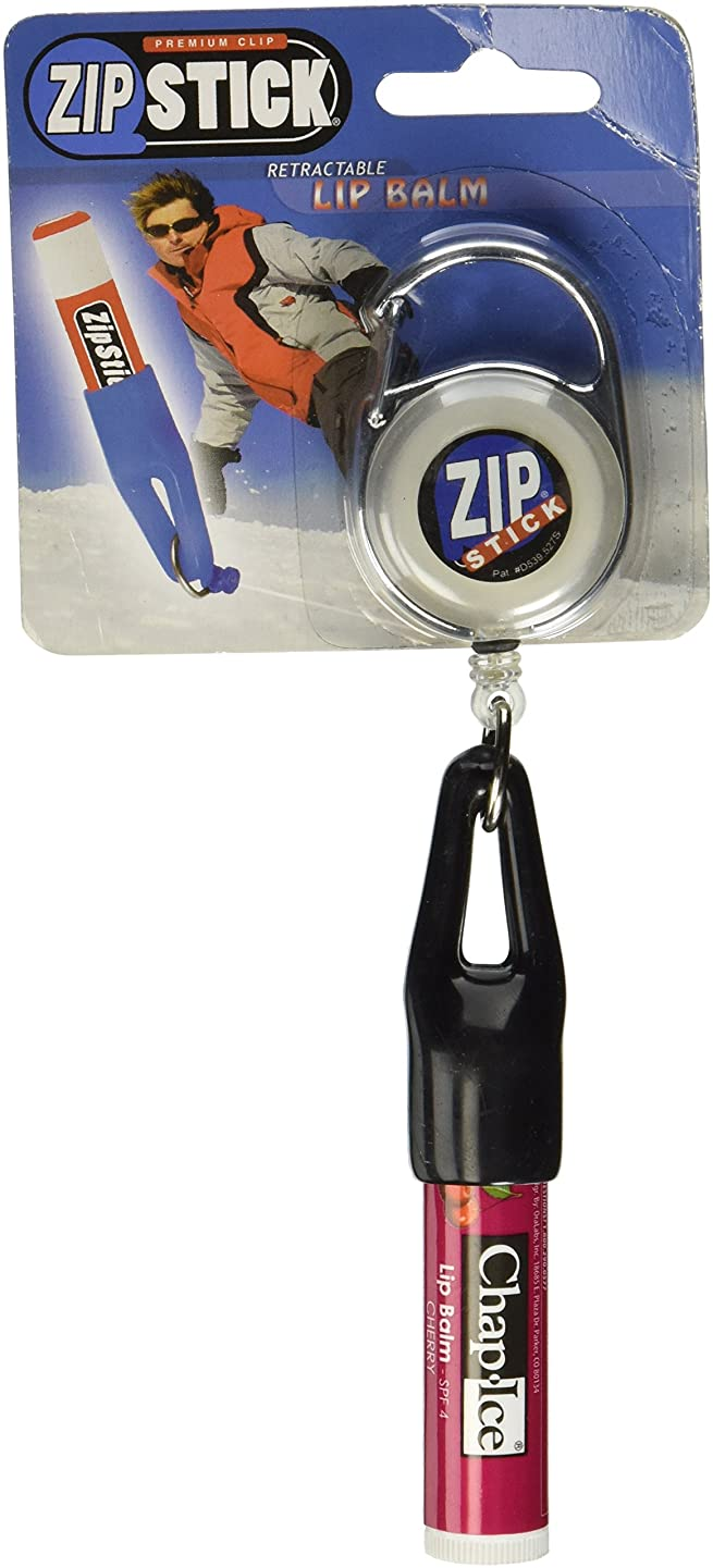 Clip-On Retractable ZIP Stick - Black (Extends 32 Inches) Fits all Standard Stick-Type Lip Balms and Lip Gloss