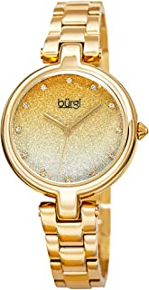 Burgi Womens Quartz Watch, Analog Display and Stainless Steel Strap BUR226YG