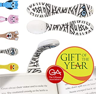 Book Light for Reading in Bed at Night - Fun Kids Clip On LED Booklight and Bookmark. Great Christmas, Halloween and Birthday Gift Idea for Children