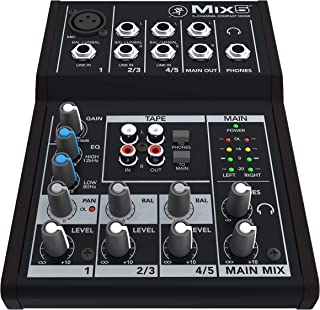 Mackie Mix Series, 5-Channel Compact Mixer with Studio-Level Audio Quality (Mix5)