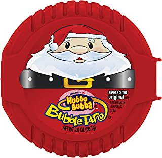 Hubba Bubba Santa Claus Holiday Christmas Bubble Tape Gum Rolls, 12 Count Display Box