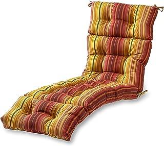 Greendale Home Fashions 72-Inch Patio Chaise Lounger Cushion, Kinnabari Stripe