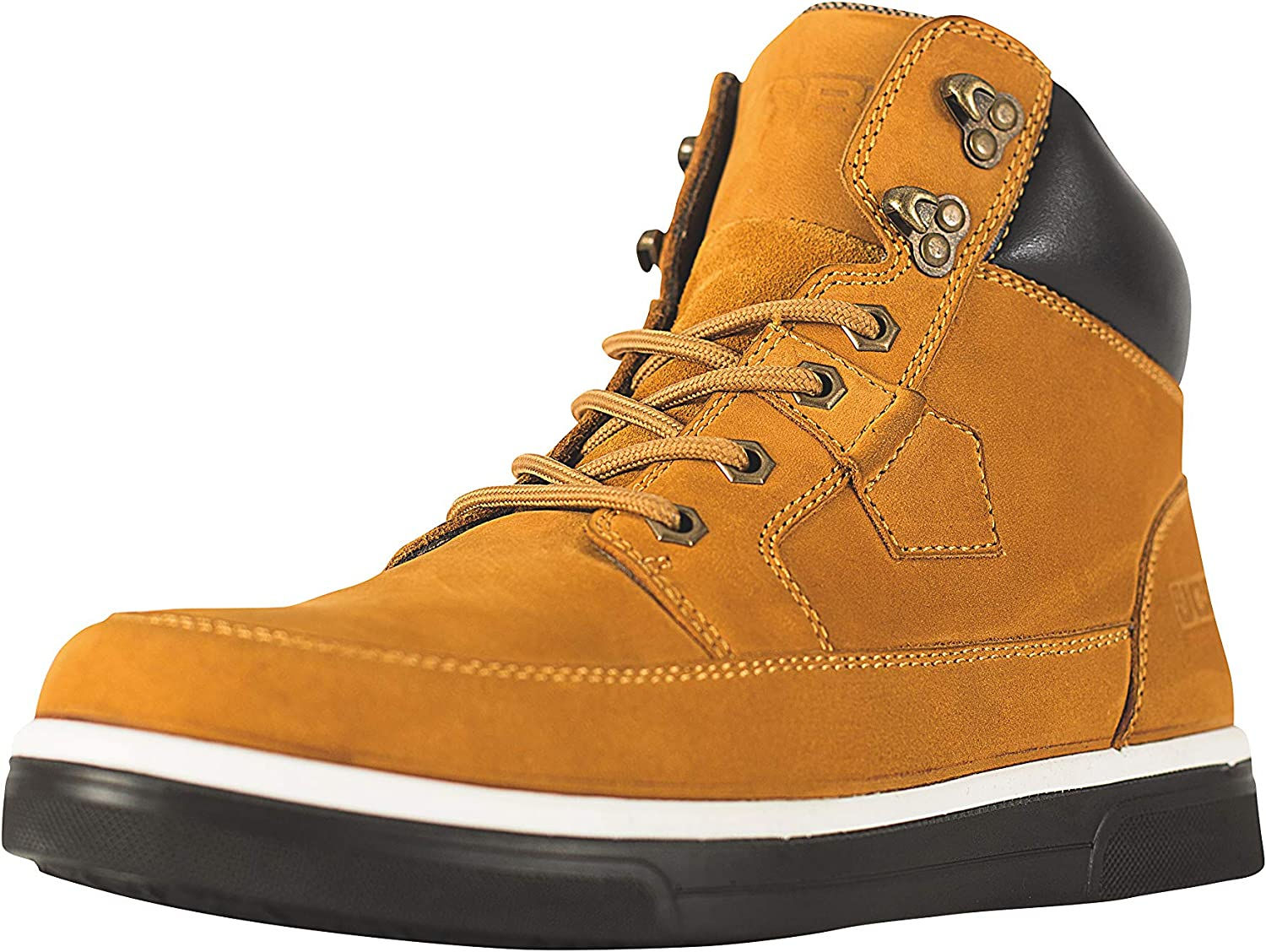 JCB 4CX H Honey Yellow Cow Nubuck Safety Hiker with Kevlar Midsole, Mens, Size 6