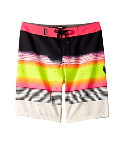 Hurley Kids Overspray Boardshorts (Big Kids) (Black) Boy