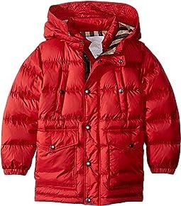 Burberry Kids - Barnie Puffy Checked Hood Jacket (Little Kids/Big Kids)