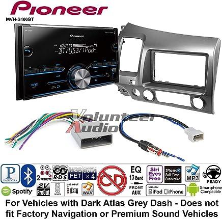 REF, REC, and RAK Factory Radios Volunteer Audio Pioneer MVH-S600BS Double Din Radio Install Kit with Bluetooth USB//AUX Fits 2009-2010 Ram 2011-2014 Chrysler 200