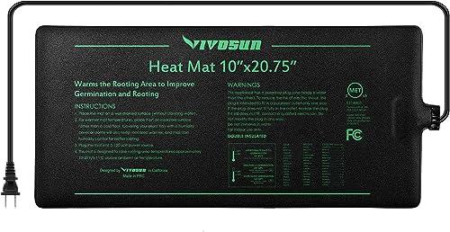 "high quality VIVOSUN Durable Waterproof lowest Seedling Heat Mat online sale Warm Hydroponic Heating Pad 10"" x 20.75"" MET Standard online"