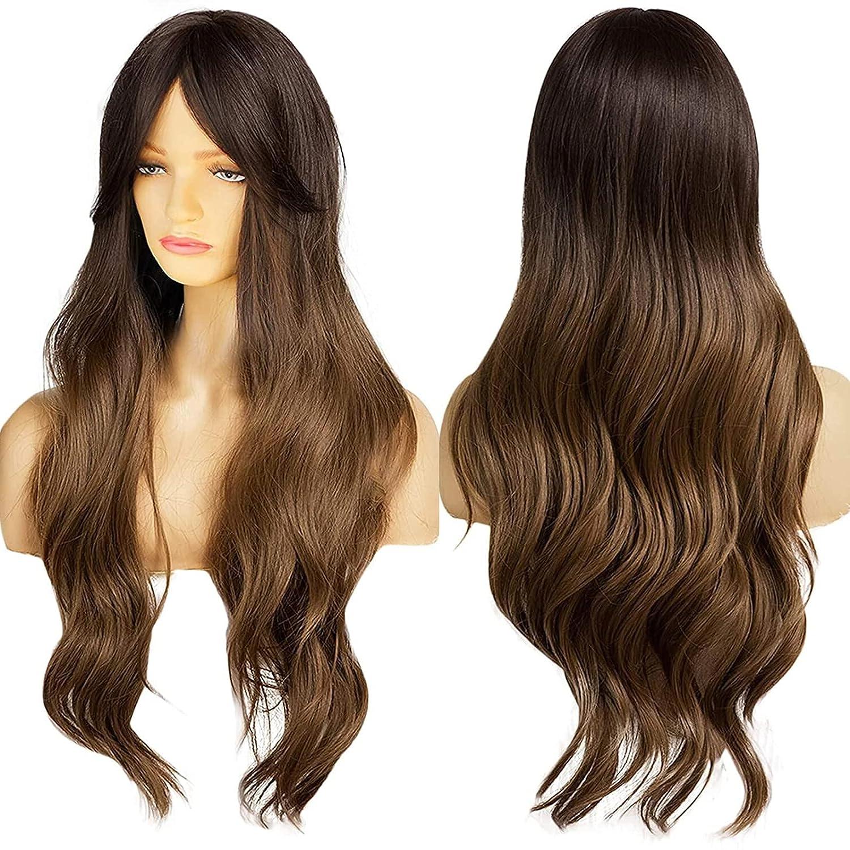 Ebingoo Long Brown Wig for Wave 5 free shipping popular Women B Dark with