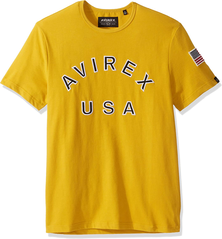 Avirex Mens Logo Woven Collar Button-Down Shirt Top BHFO 9303