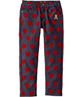 Moschino Kids - Denim Pants w/ All Over Hearts Print (Little Kids/Big Kids)