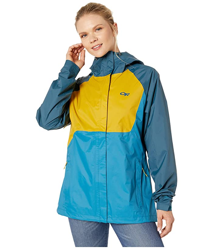 Outdoor Research Apollo Jacket (Celestial Blue/Prussian Blue/Turmeric) Women