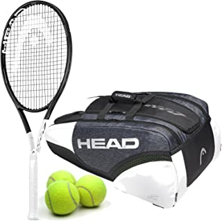 HEAD Graphene 360 Speed Pro Midplus 18x20 Tennis Racquet Kit or Set Bundled with Your Choice of a Djokovic Tennis Bag or Backpack and (1) Can of 3 Tennis Balls