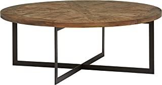 Stone & Beam Industrial Round Coffee Table, 48