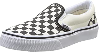 Youth Classic Slip-On Shoes Checkerboard Black/White Size 3